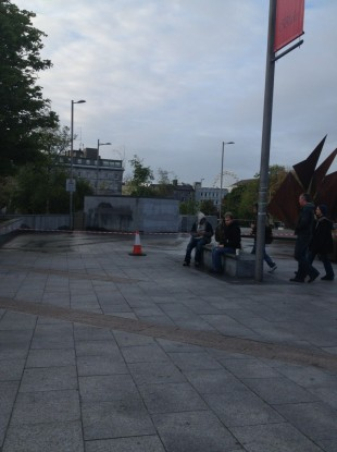 Eyre Square this morning