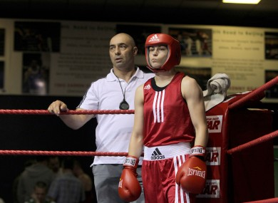 Katie Taylor with her father and trainer, Peter.