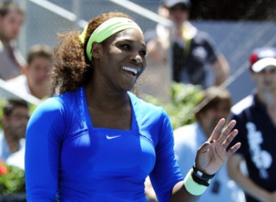 Williams beat Victoria Azarenka 6-1 6-3.