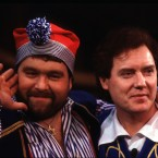 Eighties Ireland superstars Brendan Grace and Red Hurley in the Gaiety's 1985 panto 'Robinson Crusoe'. 
