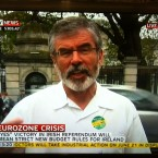 Sinn Fin president Gerry Adams speaks to Sky News this afternoon. 
