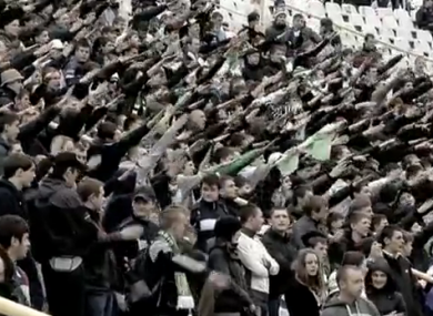 A still from BBC Panorama's Stadiums of Hate documentary.