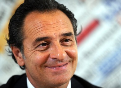Italy football coach Cesare Prandelli 