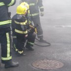 Dylan shows he is not afraid to use the fire hose - what a pro!
