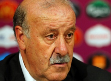 Del Bosque believes the Italians will start with the same side that beat Germany.