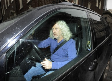 Mick Wallace leaving the Dáil in his car last Thursday