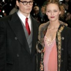 Johnny Depp and Vanessa Paradis pictured at the arrivals for  the London premiere of Finding Neverland, which took place at the Odeon Leicester Square in February 2005. (Amy Sancetta/AP/Press Association Images)