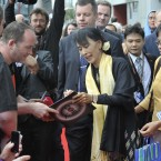 Burmese activist Aung San Suu Kyi Dublin arriving at the Bord Gais Theatre in Dublin. Photo: Sasko Lazarov /Photocall Ireland