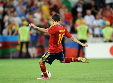 Fabregas after his goal.