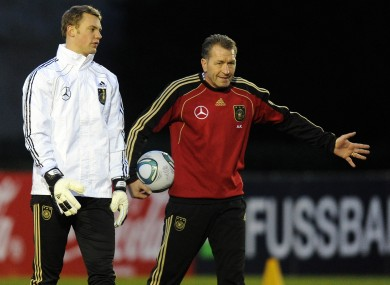 Koepke with Manuel Neuer. 