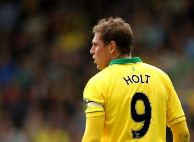 Grant Holt: heading for the door.