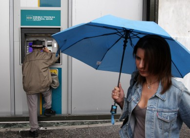 Rainy days for Greek banks