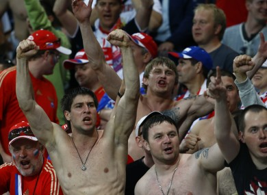 The Russia fans were also reportedly causing trouble during their first group game.