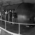 NACA staff members Eastman Jacobs, Shorty Defoe, Malvern Powell and Harold Turner carry out tests on airfoils in the Variable Density Tunnel on 15 March 1929. (Image: NASA archives)