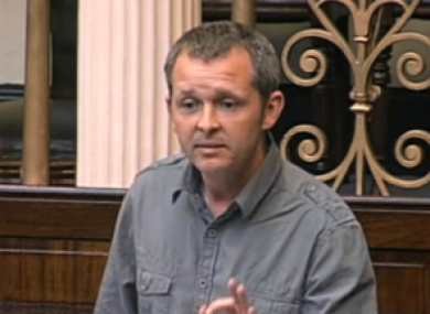 Richard Boyd-Barrett used time in Leaders' Questions to promote a protest against the Household Charge next month.