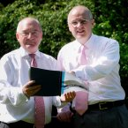 Finance Director Willie McAteer and chief executive David Drumm releasing interim results for the six month period to 31 March 2008. Photo: Sasko Lazarov/Photocall Ireland