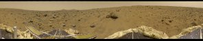A 360-degree panorama of the Pathfinder landing site on Mars in 1997. (Image: NASA)