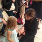 VB herself tweeted this picture of her and little Niamh Carbery from her official account. 