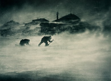 Blizzard at Cape Denizon, Antartica. (Frank Hurley)