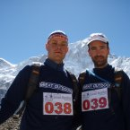 Mark (left) before the Everest Marathon
