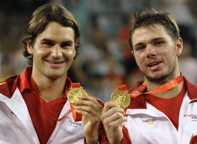 Rogere Federer and Stanislas Wawrinka won in the men's doubles Olympic Gold in 2008.