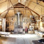 The interior of Robert Falcon Scott's hut, as seen on Streetview.