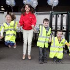 Helping out Ciara Smullen, Corporate Fundraiser for Barretstown, are twins Emer and Niamh Gibson (8), Padraig Brazil (7), his brother Cathal (5) and Poppy Meyer (5). Photo: Mark Stedman/Photocall Ireland