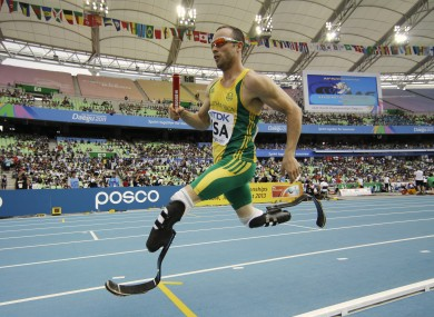 Pistorius in full flight.