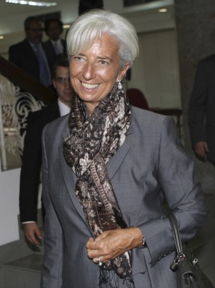 IMF Director General Christine Lagarde was