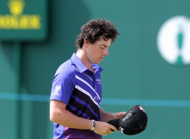 Rory McIlroy: down to number three in the rankings.