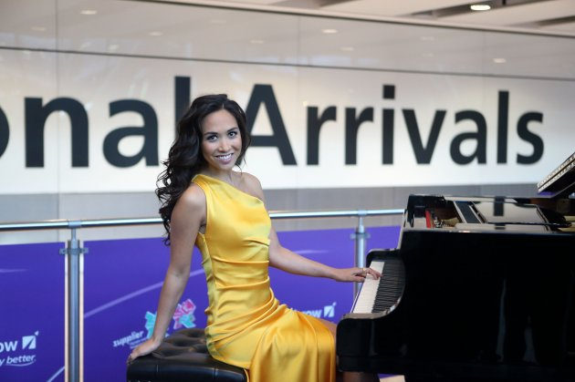 Myleene Klass at Heathrow