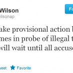 Steve Wilson's status as an authority on the Olympic Games is unquestionable. The AP reporter has been covering the Games for 20 years, and his tweets consequently carry an air of authority on the subject.