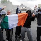 Nationalists in the Ardoyne area of Belfast clash with police after a contentious Orange Order parade passed through the area. (Photo: Laura Hutton/Photocall Ireland)