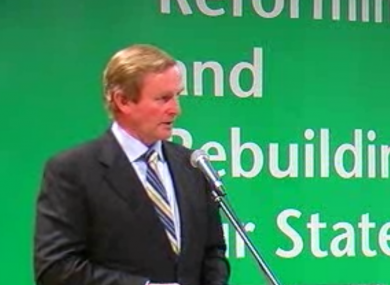 Enda Kenny gave a keynote address at the MacGill Summer School in Donegal this evening.