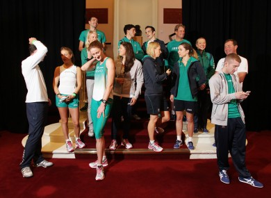 Some of Ireland's London 2012 team.