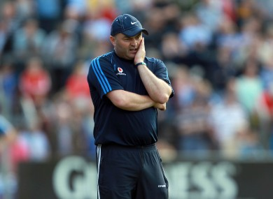 Dublin boss Anthony Daly during their recent qualifier clash in Ennis.