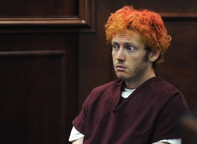 James Holmes at his recent preliminary court appearance