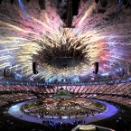 A shot of London's Olympic Stadium during Danny Boyle's spectacular opening ceremony.