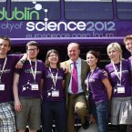  Minister Conor Lenihan pictured with the Dublin City of Science 2012 ambassadors at the EuroScience Open Forum 2010 in Turin. The six young science enthusiasts traveled to Turin in a specially commissioned Science Communications bus to promote Dublin's selection as City of Science 2012. Dublin City of Science will consist of a year-long programme of science events, with approximately 6,000 international delegates were expected at the Euroscience Conference in Dublin in July 2012.