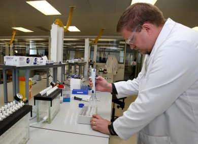 Olympic analyst Damon Meheux during a London 2012 Anti-Doping Laboratory visit