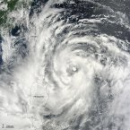 NASA image of Typhoon Saola on 30 July, courtesy of Jeff Schmaltz, LANCE MODIS Rapid Response Team at NASA GSFC.
