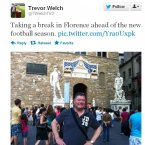 Trevor Welch takes some time off