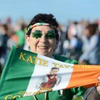 Local fan Eileen Keeley. Photo: Sasko Lazarov/Photocall Ireland