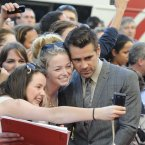 Colin Farrell with fans at the Savoy Cinema. 
