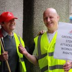 From left: Keith Wright who has worked at Greencore for 6 years and David Sensiea from Hull. (Photo: Sam Boal/Photocall Ireland)
