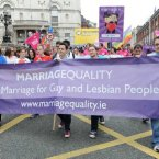 Members of the public marched for marriage equality