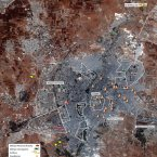 Map showing military activity in Aleppo between 23 July and 1 August 2012. (Analysis secured by Amnesty International USA (c) Digital Globe 2012)