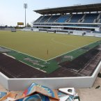 The field hockey venue has fallen out of use.