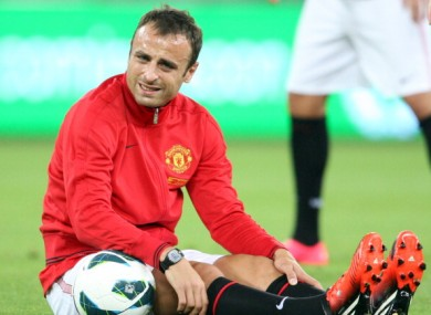 Dimitar Berbatov: heading for the Old Trafford exit. 