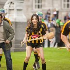 The film's leading lady Katrina Kaif gets to grips with Kilkenny hurling. (Photo: Tourism Ireland)